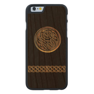Bronze Celtic Knot Black Wood iPhone 6 Case