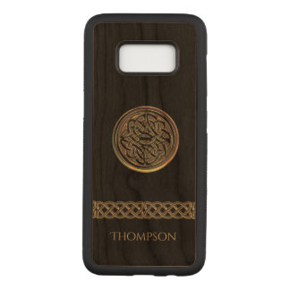 Bronze Celtic Knot Personalized Carved Samsung Galaxy S8 Case