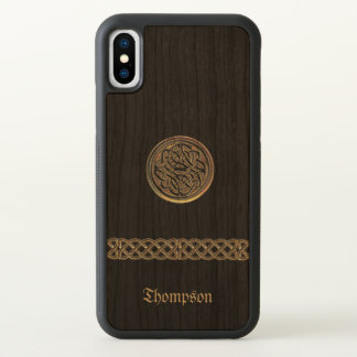 Bronze Celtic Knot Personalized iPhone X Case