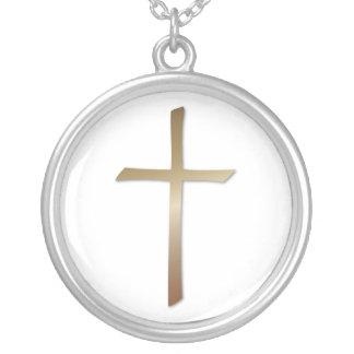 Bronze Cross Necklace