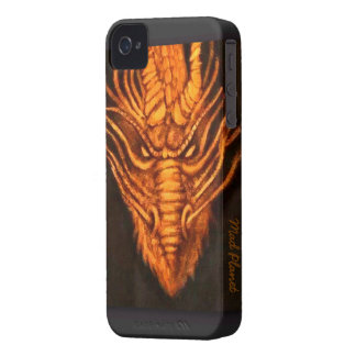 Bronze Dragon Head iPhone 4 Case-Mate Cases