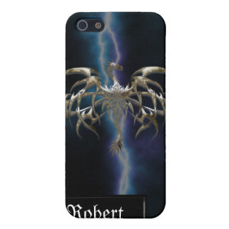 Bronze Dragon on Lightning Sky iPhone4 Cover