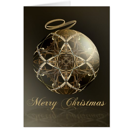 Bronze Elegance--Christmas Card