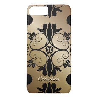 Bronze Floral Pattern iPhone 7 Plus Case