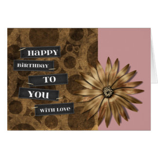 Bronze Flower Card