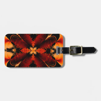 Bronze Fractal Luggage Tag