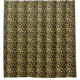 Bronze Glam Pebbled Shower Curtain