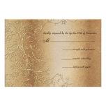 Bronze Gold and Black Swirls Wedding RSVP