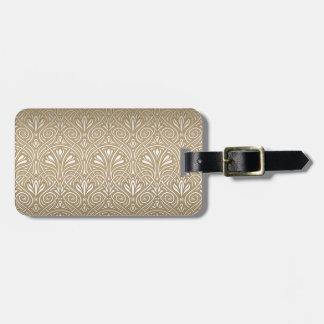 Bronze, gold,Art nouveau, art deco, vintage, Luggage Tag
