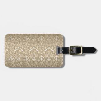 Bronze, gold,Art nouveau, art deco, vintage, patte Bag Tag