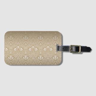Bronze, gold,Art nouveau, art deco, vintage, patte Luggage Tag