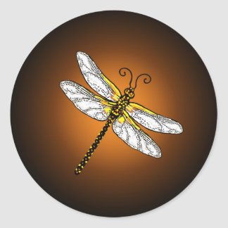 Bronze Gold Dragonfly Dragonflies Stickers