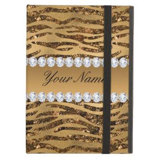 Bronze Gold Faux Foil Zebra Stripes Case For iPad Air
