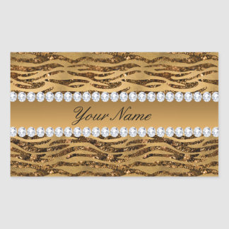 Bronze Gold Faux Foil Zebra Stripes Sticker