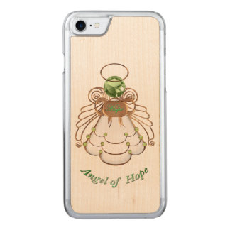 Bronze Green - Filigree Christmas Angel of Hope Carved iPhone 7 Case