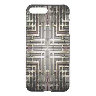 Bronze Grid iPhone7 Plus Clear Case