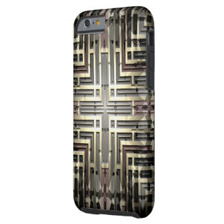 Bronze Grid iPhone 6/6S Tough Case