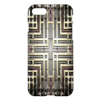 Bronze Grid iPhone 7 Case