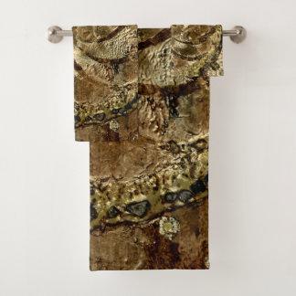 Bronze Griffins by Deprise Bath Towel Set
