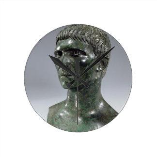 Bronze head of a man, Roman, beginning of 1st cent Wallclock