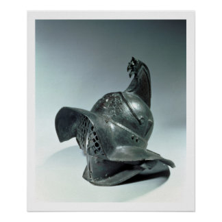 Bronze helmet of Thracian gladiator, Roman, 1st ce Poster
