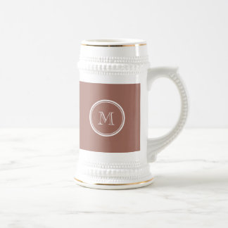 Bronze High End Colored Monogram Beer Stein