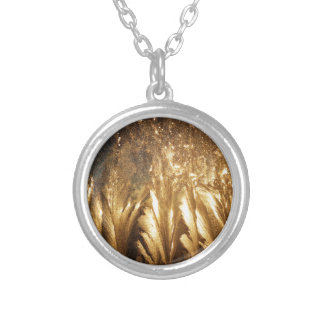 Bronze Ice Silver Plated Necklace
