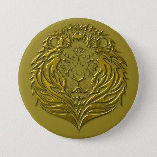 Bronze Leonine Portrait Button
