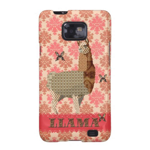Bronze Llama Floral Damask Case Samsung Galaxy S2 Covers