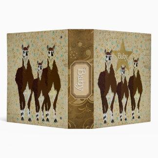 Bronze  Llamas  Baby Book Vinyl Binders