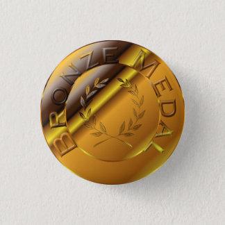 Bronze Medal 1 Inch Round Button