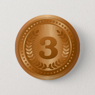 Bronze medal 3rd place winner 2 inch round button