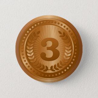 Bronze medal 3rd place winner sticker 2 inch round button
