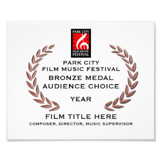 "Bronze Medal Certificate 10"" x 8"" Photo Print"
