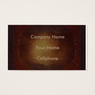 Bronze Metall Frame Business card