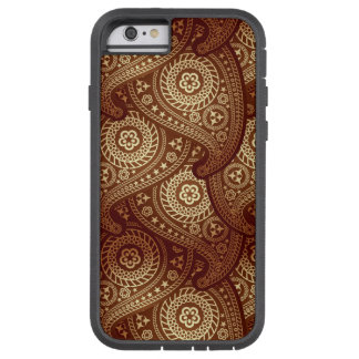 Bronze Paisley iPhone 6 Tough Extreme Case