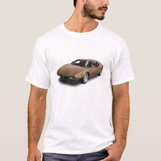 Bronze Pantera on White T-Shirt