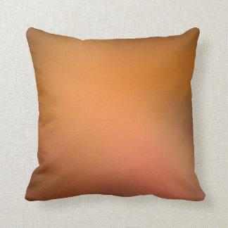 Bronze Rose Mist Gradient Lumbar and Throw Pillows