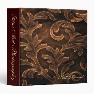 Bronze Scroll Leaf Artist Portfolio Album Binder