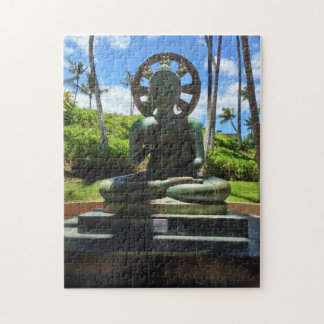 Bronze Seated Buddha, Waikoloa, Hawaii Jigsaw Puzzle