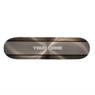 Bronze Shiny Stainless Steel Metal 2 Skateboards