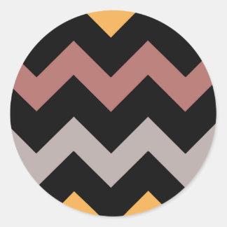 Bronze Silvered Gold Classic Round Sticker