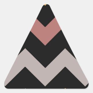 Bronze Silvered Gold Triangle Sticker