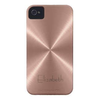 Bronze Stainless Steel Metal 2 iPhone 4 Case-Mate Cases