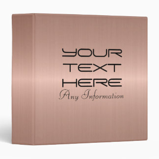 Bronze Stainless Steel Metal 3 Ring Binder