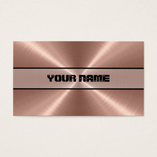 Bronze Stainless Steel Metal Business Card