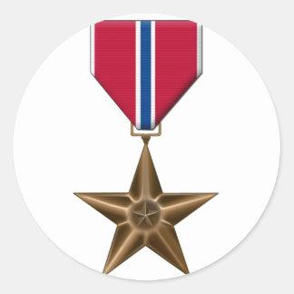 Bronze Star Medal Classic Round Sticker