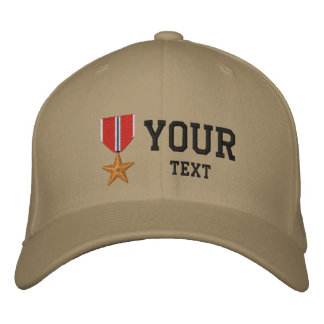 Bronze Star OEF Embroidered Hat