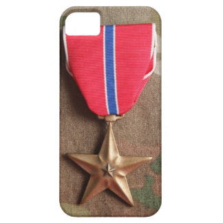 Bronze Star on Camo Background iPhone 5 Case