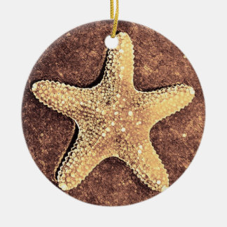 Bronze Starfish Christmas Ornament